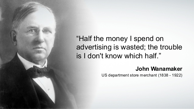 Return On Marketing Investment John Wanamaker Quote