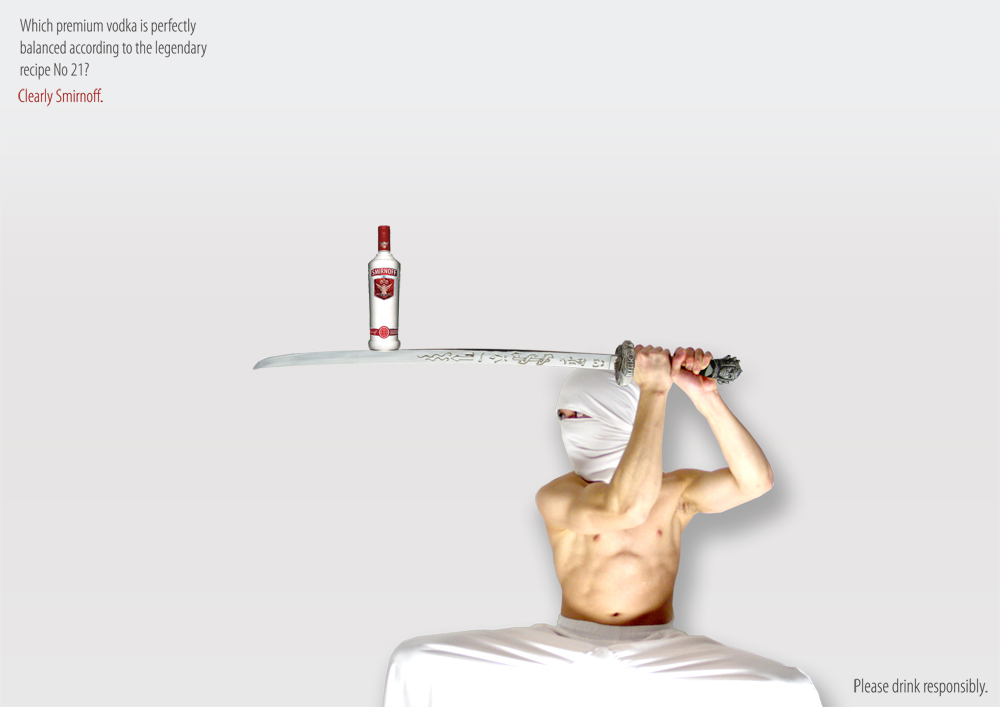 Balance in Advertising - Smirnoff