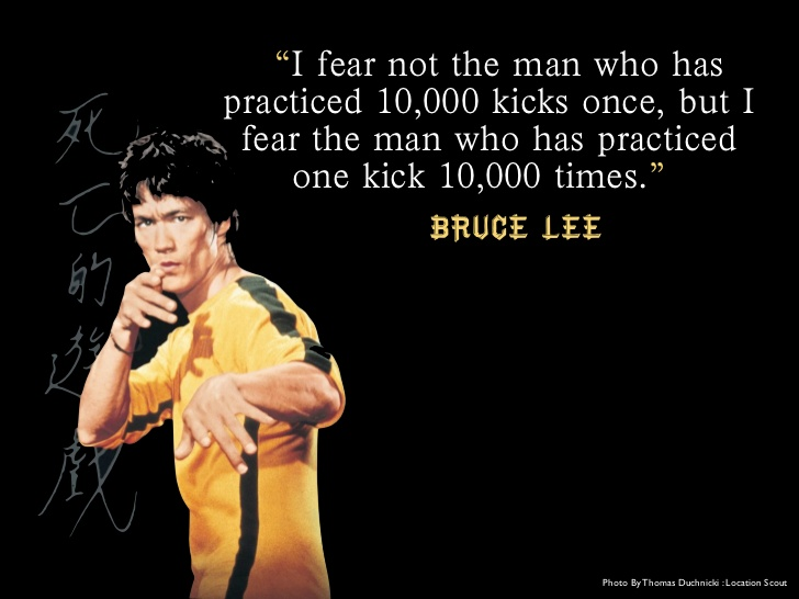 Bruce Lee Quote Deliberate Practice