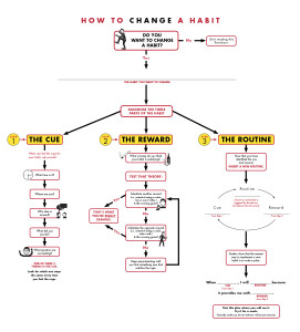 How To Change Your Habits - Flowchart and Infographic