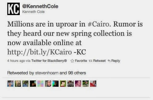 Kenneth Cole Twitter Failure