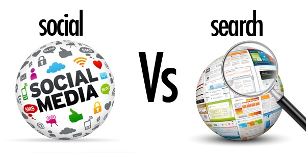 Social Media versus Search