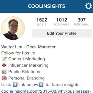 Coolinsights Instagram - over 1000 followers!