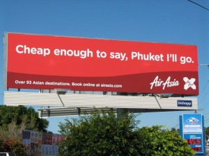 Air Asia Phuket Advertisement