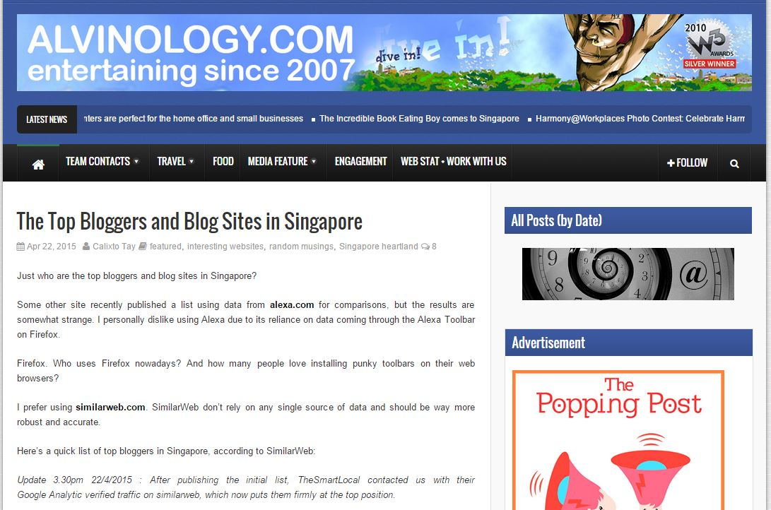 Alvinology Top bloggers