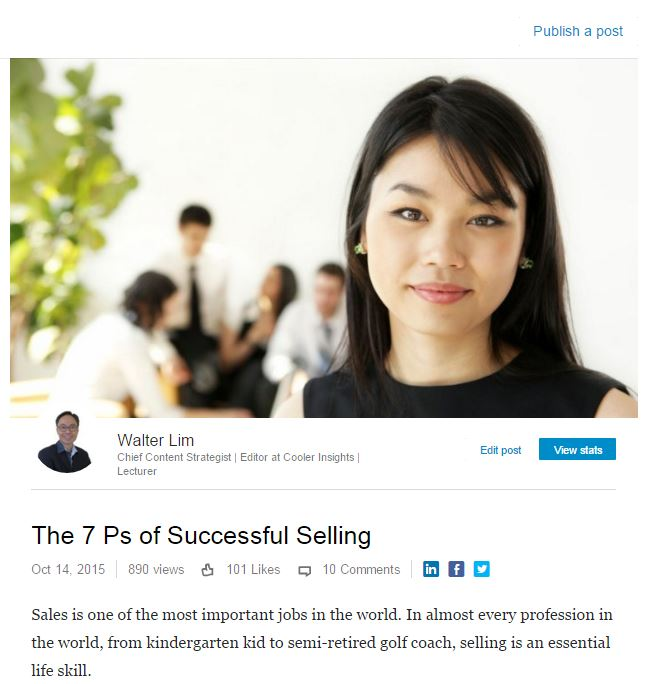 LinkedIn Pulse Article