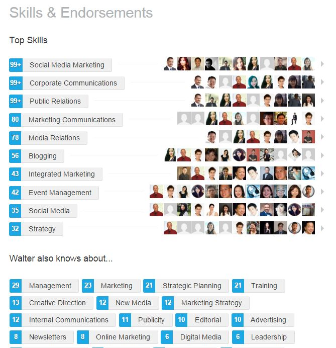LinkedIn Skills and Endorsements