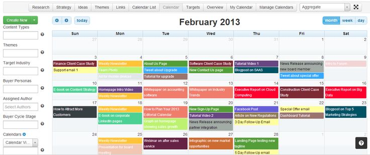 Useful Content Marketing Tools And Templates Cooler Insights - Content marketing calendar template