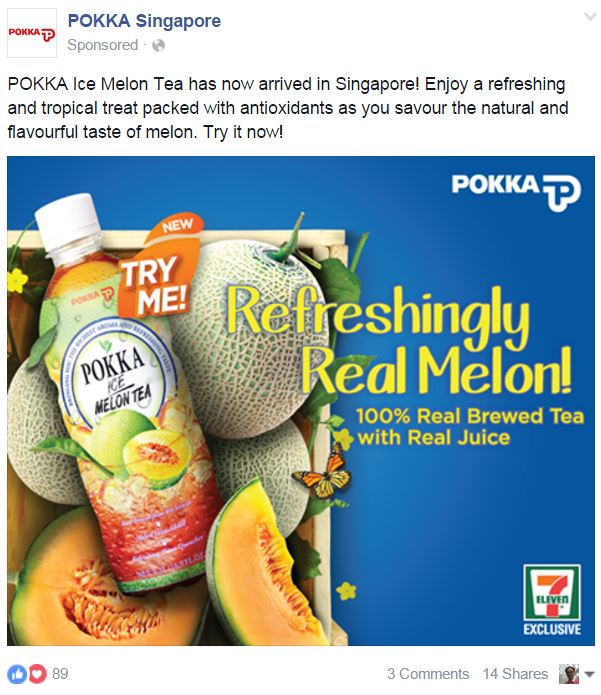 Facebook Ads Copy Benefits Pokka
