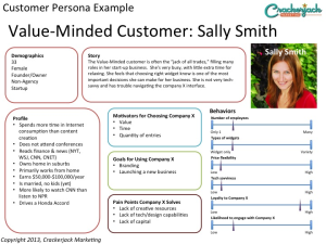 SEO Content Writing Customer Persona Example