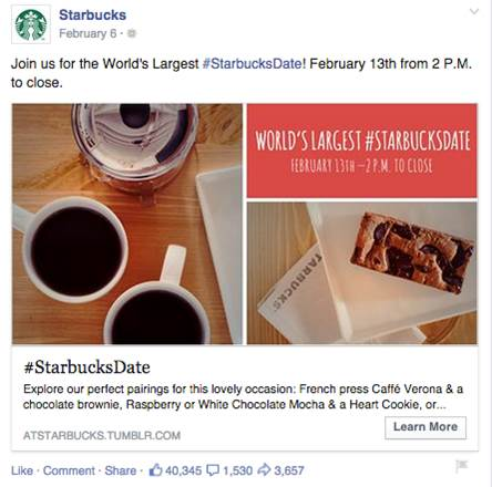 Starbucks Date Facebook Ad