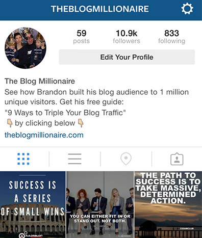 how to create spaces on instagram profile description