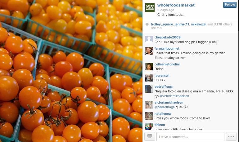 Whole Foods Fresh Instagram Content