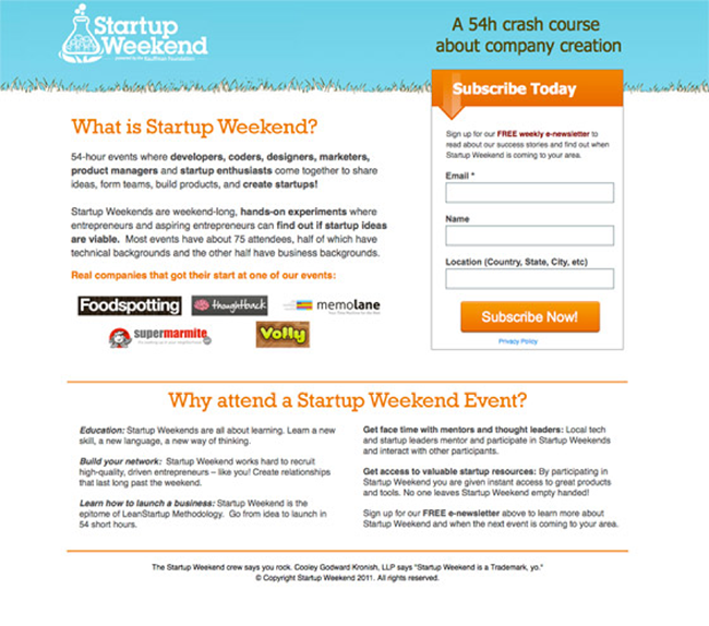 startup-weekend-landing-page-body-copy