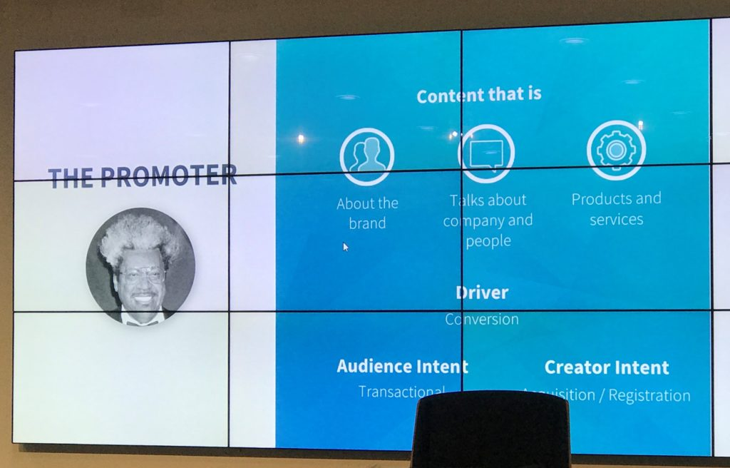 The Promoter Content Archetype